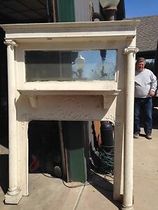 Fireplace Mantle Antique Missing Parts And Painted And 18