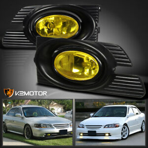 For 2001 2002 Honda Accord 4dr Jdm Yellow Bumper Fog Lights Switch