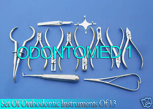 5 Sets Of Orthodontic Instruments Of 13 Pieces Each Stainless Steel Dn 497