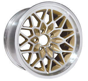 Trans Am 15x8 Snowflake Wheel Gold Ws6 New Fits Most 1967 1992 Gm Cars Single