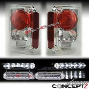 Gmc Chevy Ck C10 Series Truck Tail Lights Lamps Pair Led Daytime Running Lights