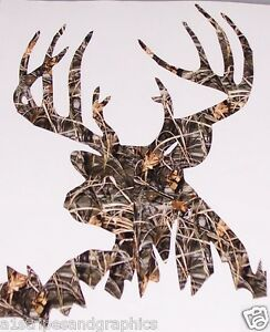 Real Tree M4 Camo Back Woods Buck Deer Hunting Decal Sticker