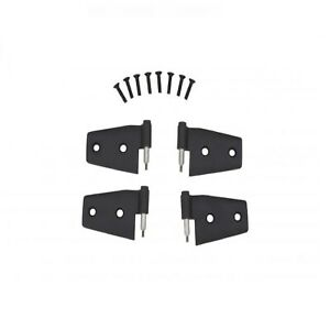 Rampage 87641 Door Hinges Black For 2007 Jeep Wrangler Jk