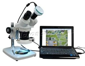Student 5x 60x Low Power Stereo Microscope 54 Led Light With 2mp Usb Camera