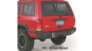 Smittybilt 76850 Xrc Rear Bumper Textured Black For 84 01 Jeep Cherokee
