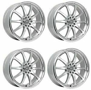 Icw Racing 211ms Bonzai 211ms 5650338 Qty 4 Rims 15x6 5 38mm 4x100 Titan Silver