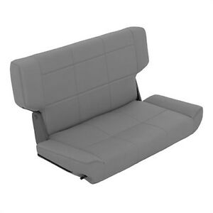 Smittybilt 41511 Fold Tumble Rear Seat Gray Denim For 97 06 Jeep Wrangler