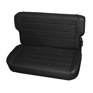 Smittybilt 41515 Fold Tumble Rear Seat Black Denim For 97 06 Jeep Wrangler
