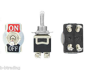 Heavy Duty 20a 125v Ac 15a 250v Ac Dpst On Off 2 Position 4 Termtoggle Switch
