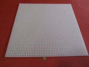 Polypropylene Perforated Sheet 1 4 Thick X 24 X 24 1 4 Dia Hole Straight