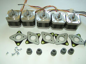 5 Stepper Motors Nema 17 60 8 Oz in Cnc Router Robot Reprap Makerbot Prusa 2006