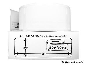 200 Rolls Of 500 Return Address Labels In Cartons For Dymo Labelwriters 30330