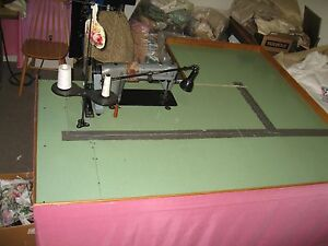 Industrial Sewing Machine Table With Steel Legs 72 X 64 With Motor Only 115