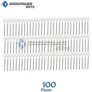 100 Dental Mirrors 5 With Handle Stainless Steel Surgical Dental Instruments
