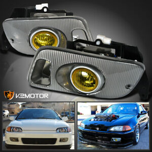 For 1992 1995 Honda Civic 2 3dr Yellow Fog Lights Switch Wiring