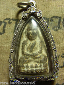 Phra Luang Phor Thuad Twad Wat Chang Hai 2497 Buddha In Silver Case
