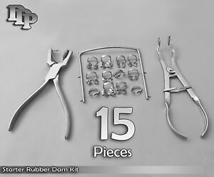 Starter Rubber Dam Kit Of 15 Dental Surgical Instruments