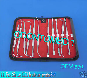 11 Pcs Sinus Lift Instruments Set Implant Dental Dentistry Double Ended odm 570