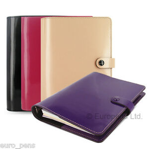 Filofax Original Patent Leather A5 Size Organiser All Colours Available