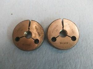 7 16 14 Ns Thread Ring Gages 4375 Go No Go P d s 3946 3926 Machinist Tool