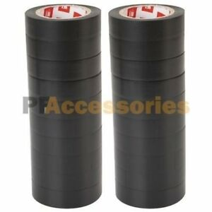 20 Rolls 50 Ft Purpose 0 7 Inch Vinyl Pvc Black Insulated Electrical Tape Lot