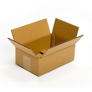 9 X 6 X 3 Corrugated Flat Cardboard Boxes Lot Of 100 free Shipping