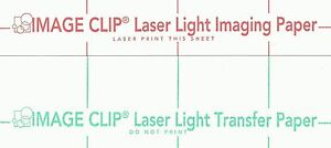 Laser Transfer For White Fabric image Clip Light 11 x17 100ct Each 2 Sets