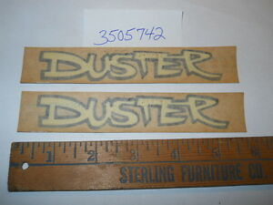 1970 1971 1972 Plymouth Duster Pair Fender Decal Nos 3505742 Original Rare