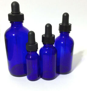 New Boston Round Cobalt Blue Glass Bottle With Dropper 1 2 1 2 4 Oz Half Ounce