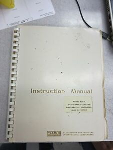 Fluke 335a Instruction Manual 3311b 3