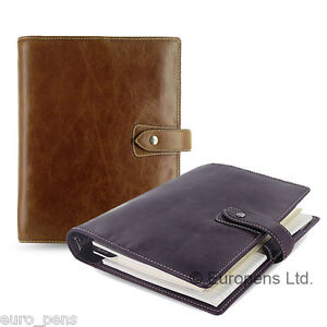 Filofax Malden A5 Size Leather Organiser All Colours Available