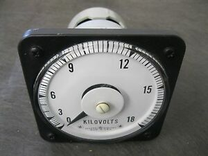 Ge General Electric Ab40 0 18 Dc Kilovolts Meter Gauge Gage