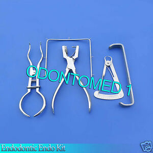 Rubber Dam Kit Ainsowrth Punch Pliers Brewer Farabeuf Wax Caliper Gauge Frames