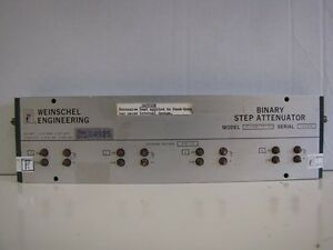 Weinschel Engineering Binary Step Attenuator Model Af 144 11 11