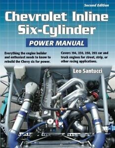 Chevrolet 230 250 292 194 Inline 6 Engine Manual Book Rebuild Six Cylinder Chevy