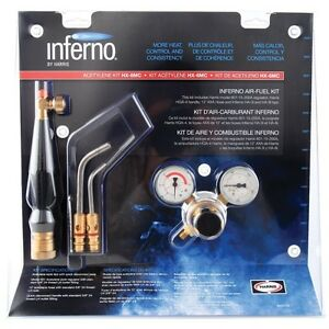 Harris Hx 3b Inferno Brazing Kit Quick Connect B Tank Acetylene Torch Kit