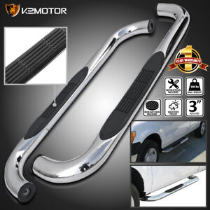 For 1997 2004 Ford F150 Pickup Regular Cab Chrome Running Boards Side Step Bars