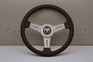 Nardi Personal Steering Wheel Classic 340mm Black Leather White Spokes