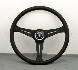 Nardi Personal Classic Steering Wheel 390mm Black Leather With Black Spokes