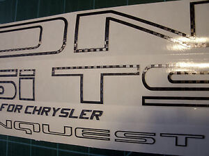 Carbon Fiber Chrysler Conquest Tsi Vinyl Decals Full Set Of 5 87 89