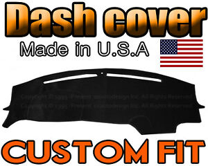 Fits 2015 2020 Dodge Challenger Dash Cover Mat Dashboard Pad Black