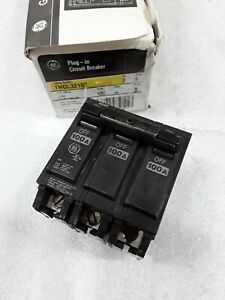 Thql32100 General Electric Circuit Breaker 3 Pole 100 Amp 240v New