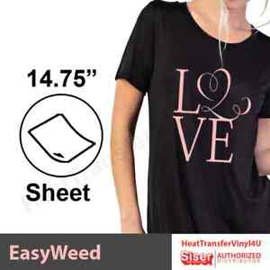 Siser Easyweed Heat Transfer Vinyl 15 Sheets 15 X 12 Select Your Colors