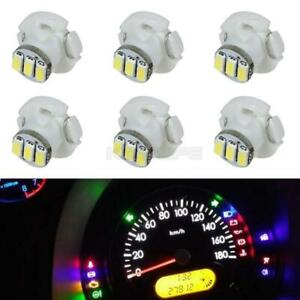 White T4 3 Smd Dash Led Light For A c Climate Heater Control Bulbs Lamp 6pcs