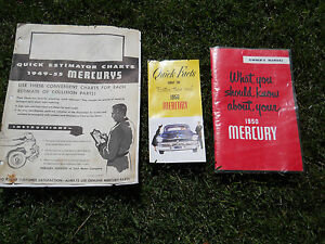 50 Mercury Owners Manual And Literature 3 Pieces