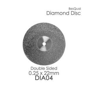 Dental Lab Diamond Disc 4 Double Sided 22mm X 0 25mm 6 piece For Porcelain