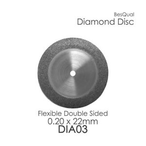 Dental Lab Diamond Disc 3 Double Sided 22mm X 0 20mm 6 piece For Porcelain