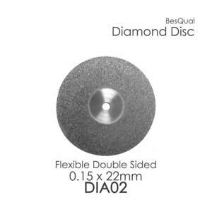 Dental Lab Diamond Disc 2 Double Sided 22mm X 0 15mm 6 piece For Porcelain