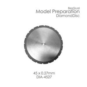 Dental Lab Diamond Disc 45mm X 0 27mm 3 piece For Plaster Die Stone Investment