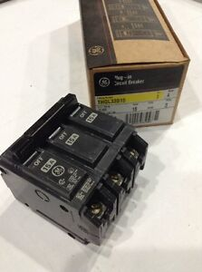 Thql32015 Ge Circuit Breaker 3 Pole 15 Amp 240v new Box Of 3